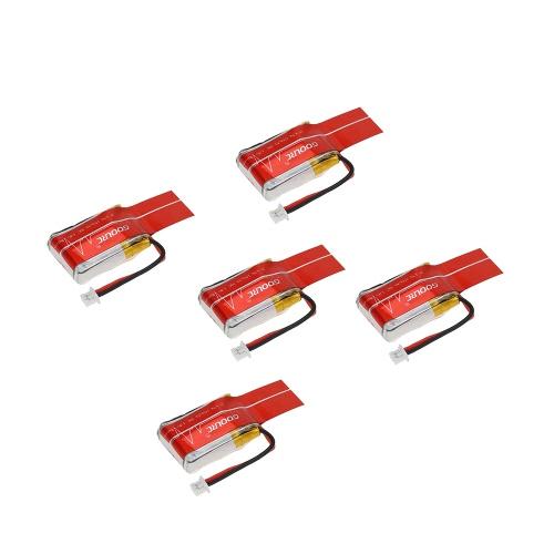 GoolRC 5Pcs 3.7V 150mAh 30C Batterie Lipo avec câble de recharge pour JJRC H20 RC Hexacopter