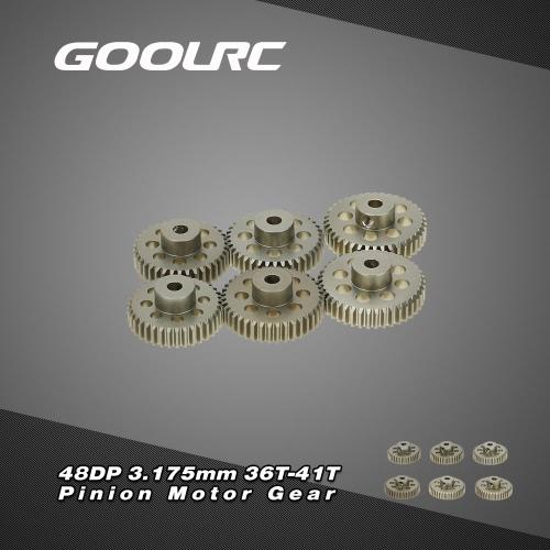 GoolRC 48DP 3,175 mm 36Z 37T 38Z 39Z 40 t 41T Ritzel Motor Gear Combo Set für RC Auto gebürstet Brushlessmotor