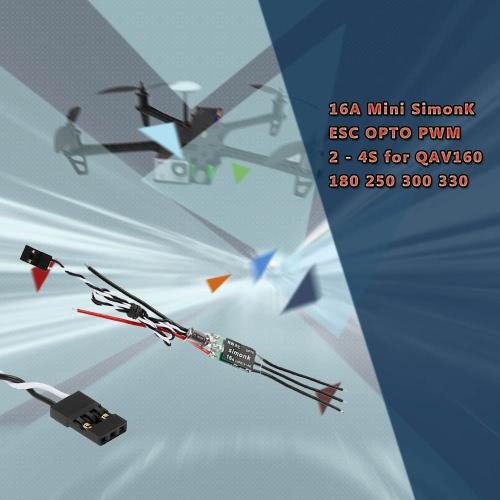 4 個入り 16 a ミニ SimonK ESC 光 PWM 2 - 180 QAV250 レーサー Quadcopter の 4S