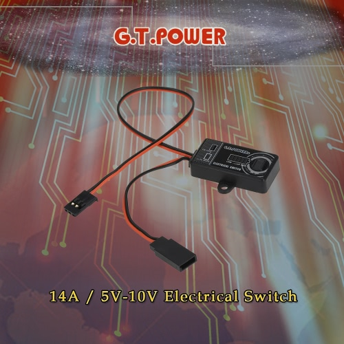 G.T.POWER 14A / 5V-10V Electrical Switch for RC Aircraft Helicopter Car