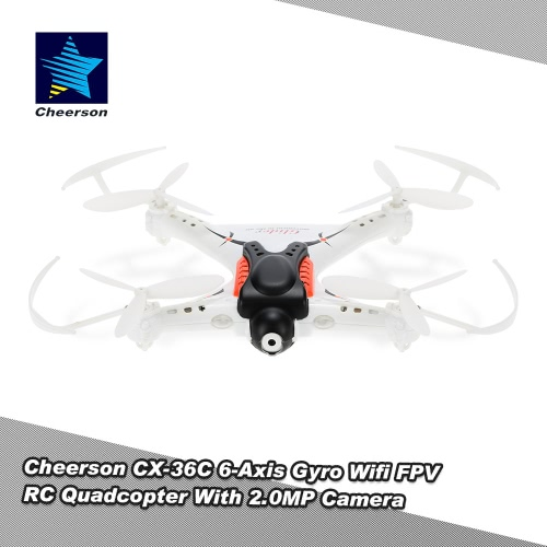 Original Cheerson CX-36C 4CH 6-Axis Gyro Wifi FPV Gravity Sensing Control RC Quadcopter  with 2.0MP Camera