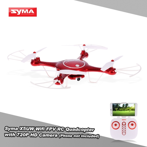 Original Syma X5UW Wifi FPV RC Drone 720P HD Camera RTF Quadcopter with Headless Mode and Barometer Set Height Function
