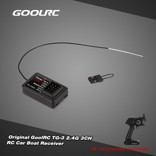 GoolRC TG3 AUSTAR AX5Sトランスミッタ用のオリジナルGoolRC TG-3 2.4G 3CH RCカーボートレシーバー