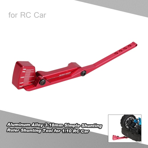 Aluminum Alloy 3-18mm Simple Shunting Ruler Shunting Tool for 1/10 HSP RC Car