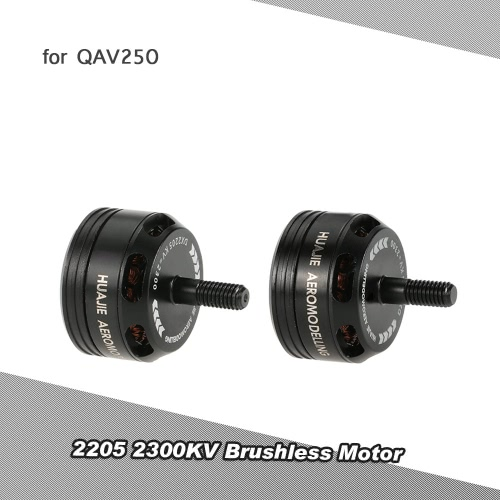 2Pcs 2205 2300KV Brushless CW/CCW Motor with Wrench for QAV250 280 FPV Racing Quadcopter
