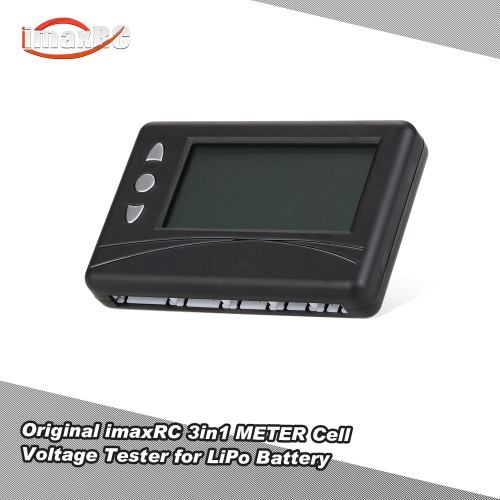 Original imaxRC 3in1 METER Cell Voltage Tester Balancer Discharger for 2-6S LiPo LiFe Battery