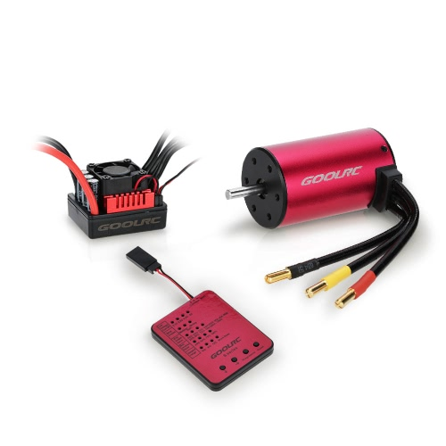 GoolRC S3650 3100KV Sensorless Brushless Motor 45A Brushless ESC und Programm Card Combo Set für 1/10 RC Car Truck