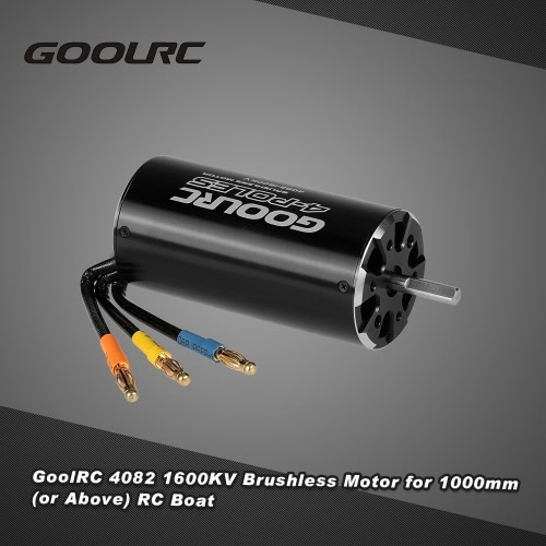 Original GoolRC High Performance 4082 1600KV 4 Poles Brushless Sensorless Motor for 1000mm (or Above) RC Boat