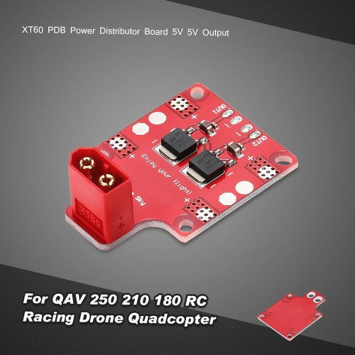 XT60 PDB Power Distributor Board 5V 5V Output for QAV 250 210 180 RC Racing Drone Quadcopter
