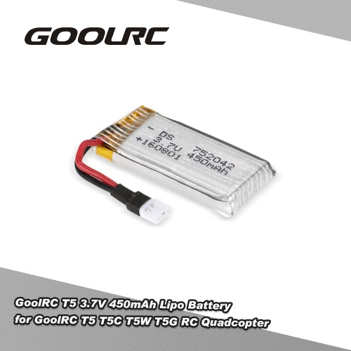 Original GoolRC T5 3.7V 450mAh Lipo Battery for GoolRC T5 T5C T5W T5G RC quadcopter