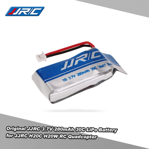 Original JJRC 3.7V 280mAh 30C LiPo Battery for JJRC H20C H20W RC Quadcopter
