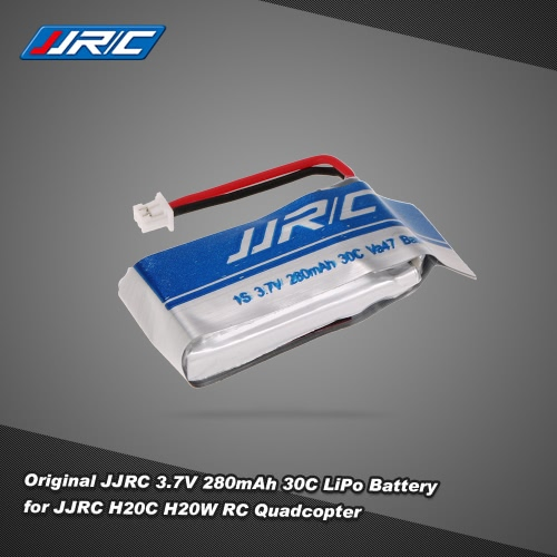 JJRC 3.7V 280mAh 30C LiPo Battery for JJRC H20C H20W RC Quadcopter