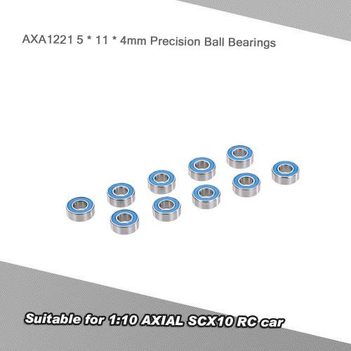 10szt AXA1221 5 * 11 * 4mm precyzyjne łożyska kulkowe RC Akcesoria do 01:10 AXIAL SCX10 RC Car