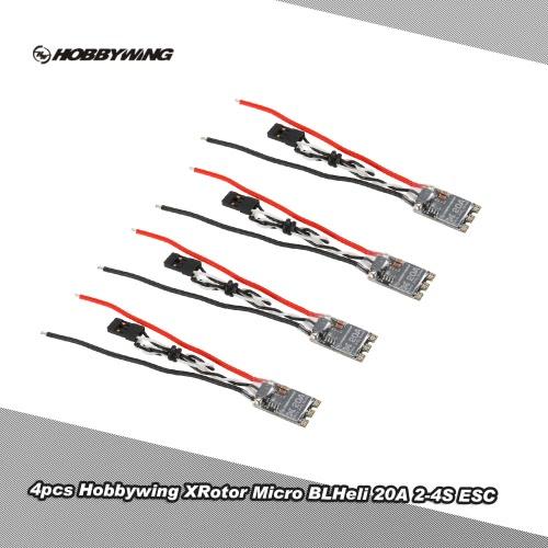 4本入りオリジナルHobbywing XRotorマイクロBLHeli QAV210 250 280 RCマルチロータードローンクワッドローター用20A 2-4S ESCブラシレススピードコントローラー