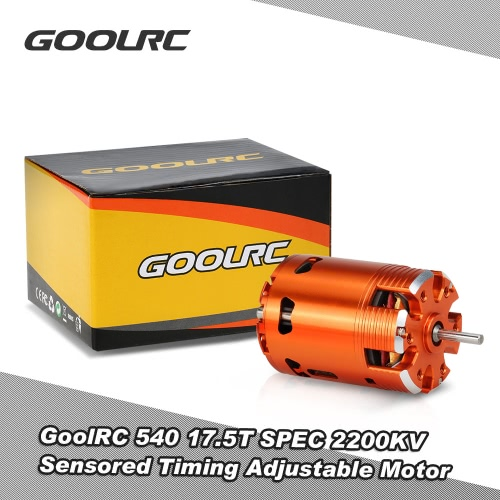 GoolRC 540 17.5T SPEC 2200KV Sensored Brushless Timing Adjustable Motor for 1/10 RC Car