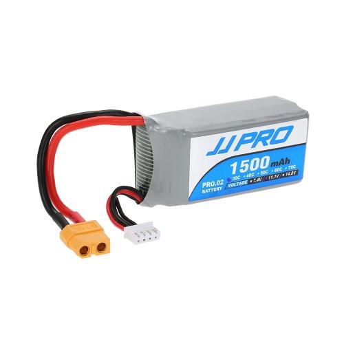 JJRC JJPRO 11.1V 1500mAh 30C 3S XT60 Plug Li-Po Batería para P175 P200 QAV180 200 QAV250 ZMR250 RC Quadcopter Drone