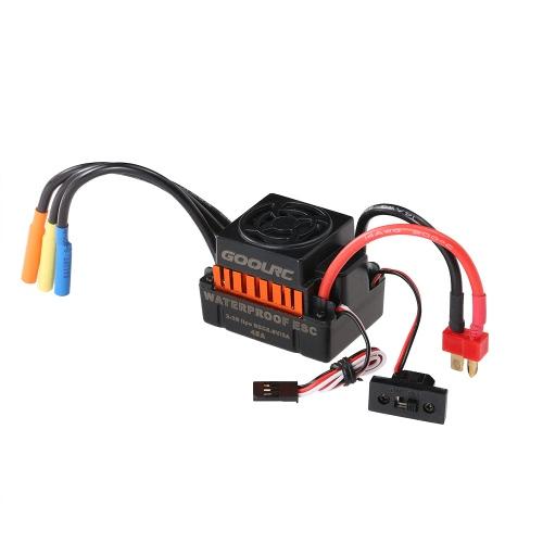 GoolRC impermeabiliza el regulador eléctrico de la velocidad del ESC sin cepillo de 45A con 5.8V / 3A BEC para el coche 1/10 RC