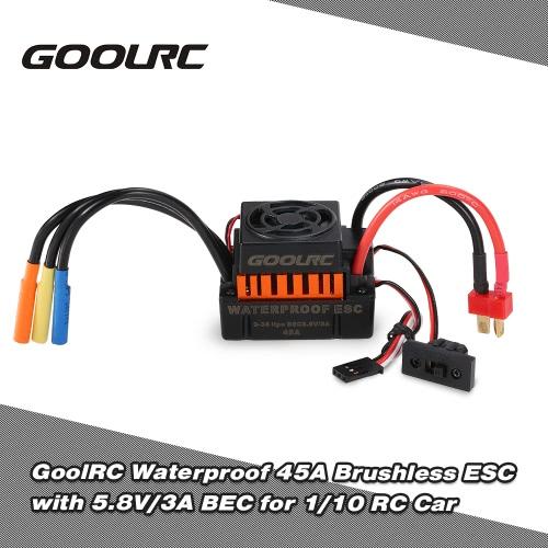 GoolRC impermeabile 45A Brushless ESC regolatore di velocità elettrica con 5.8V / 3A BEC per 1/10 RC Auto