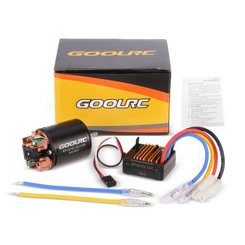 GoolRC 540 55T Brushed Motor mit 60A ESC Combo für 10.01 Axial SCX10 RC4WD D90 RC Raupen Climbing Car