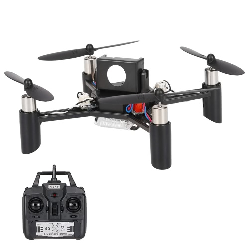Linxtech DM002 (H) 2.4G 4CH 6 axes Gyro DIY Mini RC Quadcopter 3D-Flips Drone Support 5.8G FPV Modification (version du kit)