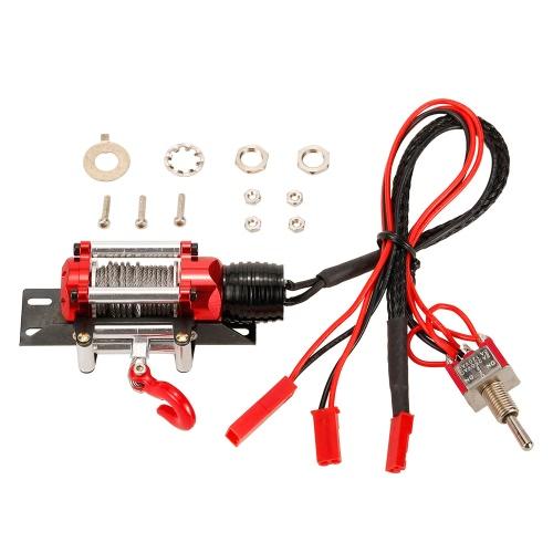 Metall Stahl verdrahtet Automatik Simulierte Winde mit Schalter für 1/10 Traxxas HSP Redcat HPI TAMIYA CC01 Axial SCX10 RC4WD D90 RC Rock Crawler