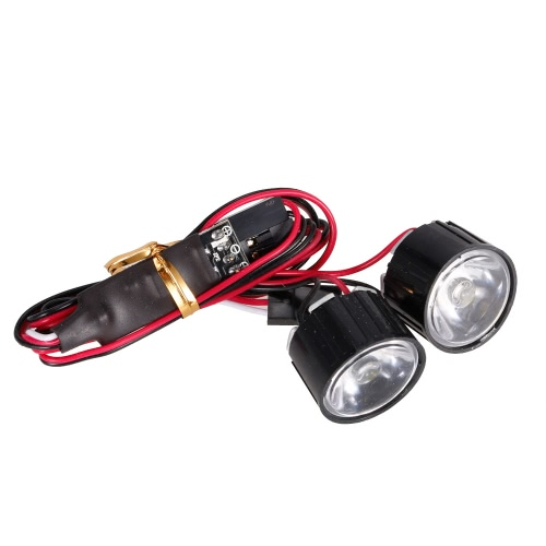 AUSTAR AX-006A 3W Highlight LED Lights w/ Controller Board for 1/10 Rock Crawler Traxxas Redcat AXIAL RC Car