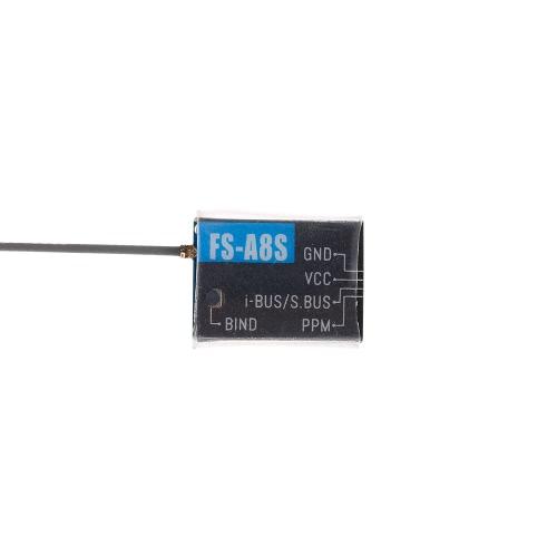 Flysky FS-A8S Mini 8CH Receiver PPM i-BUS SBUS Output for Flysky FS-i6S FS-i6X FS-i10 FS-TM10 RC Transmitter Controller Drone