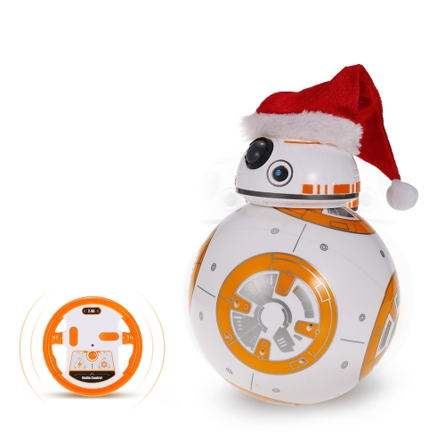 BB-8 2.4GHz RC Robot Ball Controle Remoto Planet Boy com Som Star Wars Toy Kids presente presente de Natal
