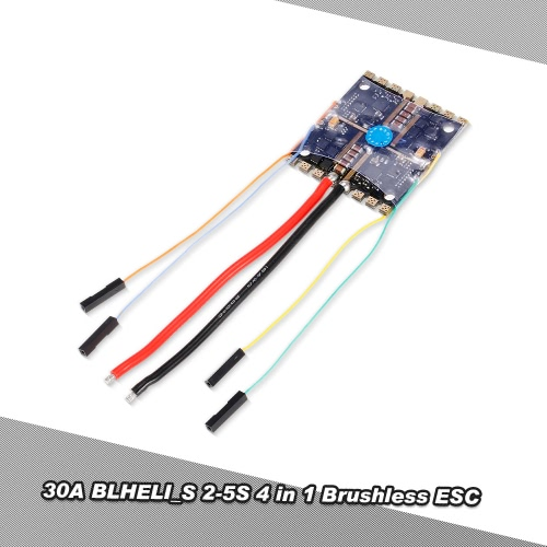 30A BLHELI_S 2-5S 4 in 1 ESC Brushless Speed Controller for QAV250 F330 F450 FPV Racing Drone Quadcopter