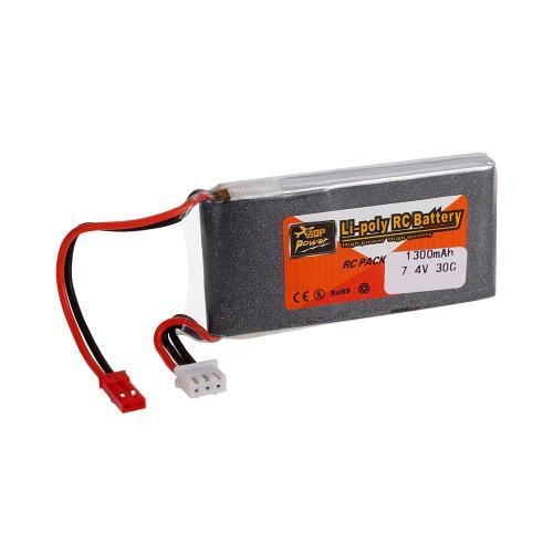 ZOP電源2S 7.4V 1300mAh 30C LiPoバッテリーJSTプラグ