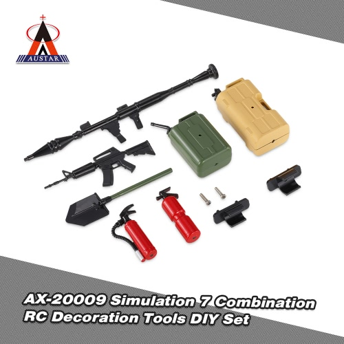 Austar AX-20009 Decoration Tools 7 Simulation Combination DIY Kit for 1/10 Traxxas HSP Redcat TAMIYA CC01 SCX10 D90 RC Rock Crawler
