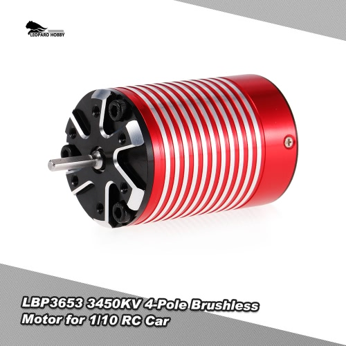 LEOPARD HOBBY LBP3653 3450KV 4-Pole Brushless Motor for 1/10 Traxxas HSP Redcat RC4WD Tamiya Axial HPI RC Car