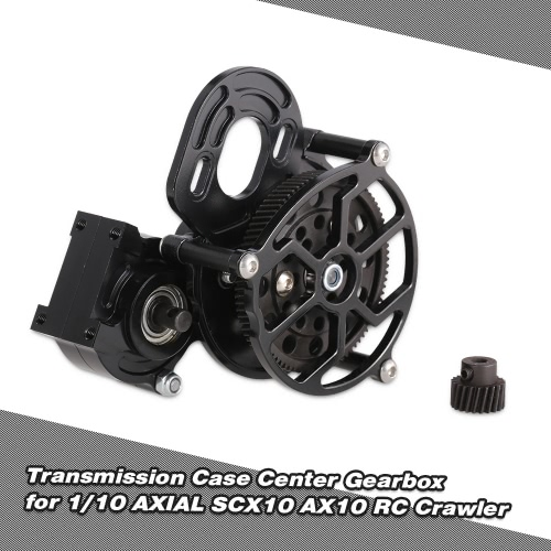 Transmission Case Center Gearbox w/ Motor Gear for 1/10 Axial SCX10 AX10 RC Crawlers Car