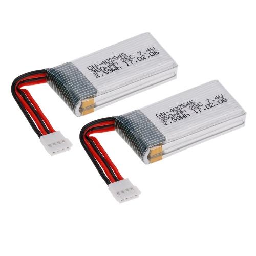 Batería recargable del LiPo de 2pcs 7.4V 350mAh para el TFG Quadcopter de GTENG T905F T905W