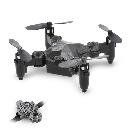DH-800 2.4G 4CH Mini G-sensor Foldable Drone Height Hold Watch Style Remote Controller Portable Quadcopter RTF