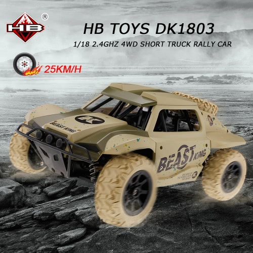 HB TOYS DK1803 1/18 2.4GHz 4WD High Speed Short Truck Off-road Racing Rally Car RTR