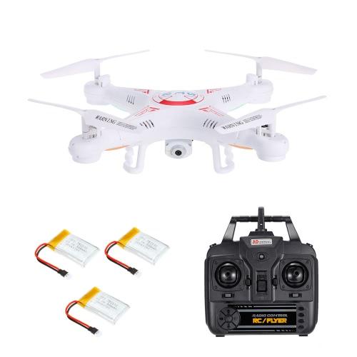 X5C-1 2.0MP Camera Drone 3D Flips Безголовый режим Один ключ Return RC Quadcopter с двумя дополнительными батареями RTF