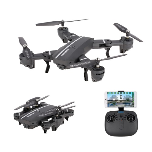 8807W Foldable 0.3MP Camera Wifi FPV Drone 6-Axis Gyro Altitude Hold Headless Mode G-sensor RC Quadcopter