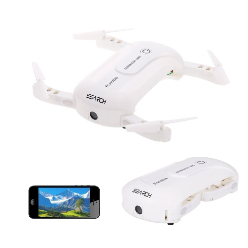 0,3-мегапиксельная камера Wifi FPV Складной карманный дроссель Высота над уровнем моря Голосовое управление G-сенсор Управление приложением Quadcopter