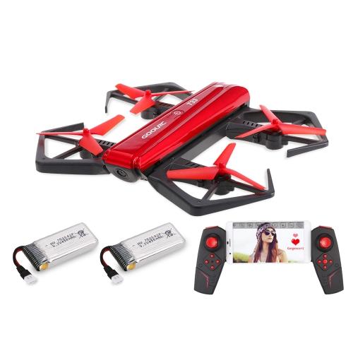 GoolRC T33 WIFI FPV 720 P HD caméra Quadcopter pliable G-capteur Mini RC Selfie poche Drone hauteur tenir une batterie supplémentaire