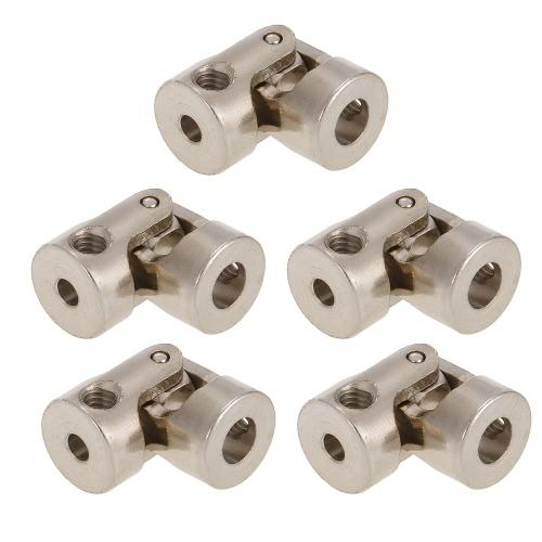 5pcs Edelstahl 5 bis 3mm volle Metall Universalgelenk Kardangelenkkupplungen für RC Auto und Boot D90 SCX10 RC4WD