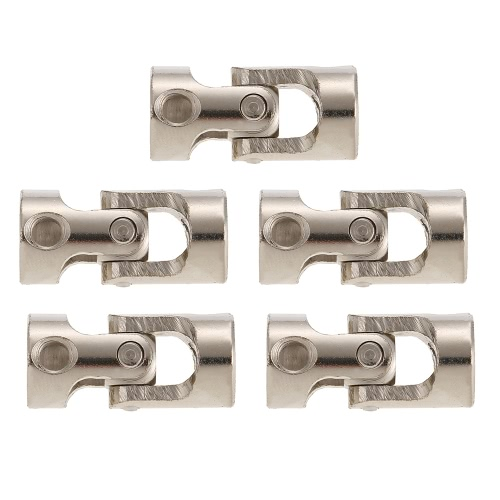 5pcs Stainless Steel 5 to 3mm Full Metal Universal Joint Cardan Couplings for RC Car and Boat D90 SCX10 RC4WD