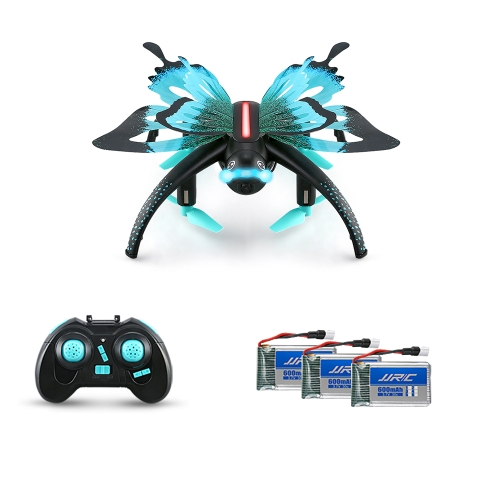 Originale JJR / C H42WH Farfalla WIFI FPV 0.3MP Quad-G-Sensore Mini RC Selfie Drone Due Batterie Extra