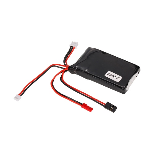 2S 7.4V 2200mAh 8C LiPo Batterie pour Futaba 14SG Remote Controller RC Transmitter