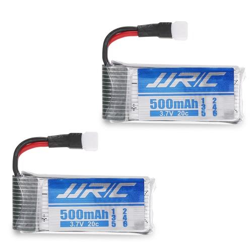 2pcs 3.7V 500mAh 20C LiPo Battery for JJR/C H43WH GoolRC T33 FPV Quadcopter