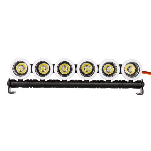 Austar AX522W Multifunktions-Ultra-Bright-LED-Lampe 6 Scheinwerfer für 1/10 SCX10 90046 D90 Modell Crawler RC Car