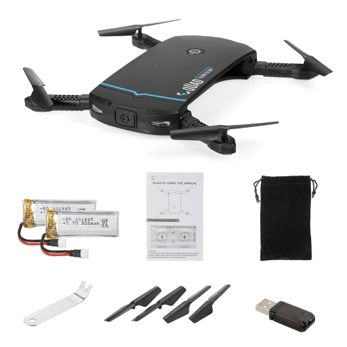 LDIRC RC102 Wifi FPV 0.3MP Camera Altitude Hold Foldable Mini Selfie RC Drone Quadcopte with 1 Extra Battery