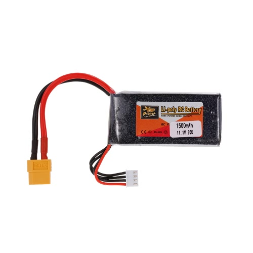 ZOP Power 3S 11.1V 1500mAh 30C LiPo Batteria XT60 Spina