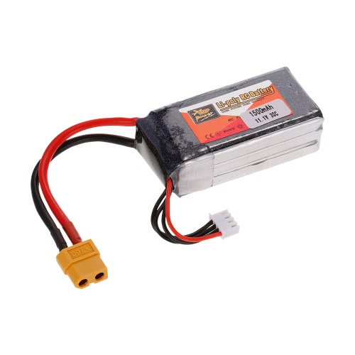 ZOP Power 3S 11.1V 1500mAh 30C XT60 Plug LiPo Batería para 180 210 250 Racing Drone Quadcopter RC Car Boat