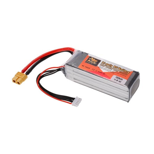 ZOP Power 4S 14.8V 1800mAh 65C XT60 Plug LiPo Batterie pour 250 280 Racing Drone 450 Helicopter RC Car Boat